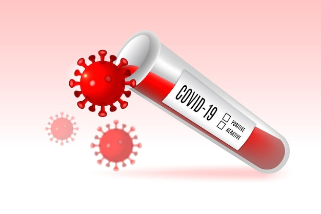 Ilustração de teste de sangue de coronavírus