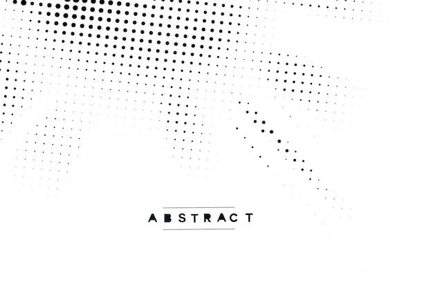 Ilustração de textura de vetor de pontos de meio-tom de projeto abstrato.