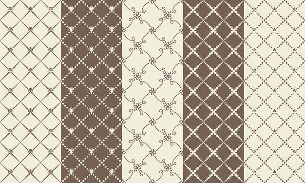 Ilustração de texturas de mosaico