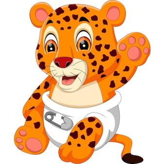 Ilustração de tigre bebê fofo