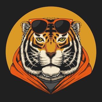Ilustração de tigre legal
