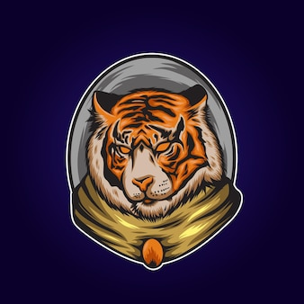 Ilustração de tigre tão legal