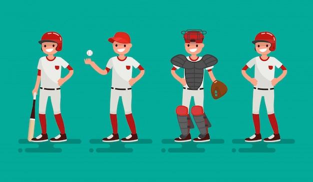 Ilustração de time de basquete de um design plano