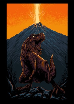 Ilustração de tiranossauro rex