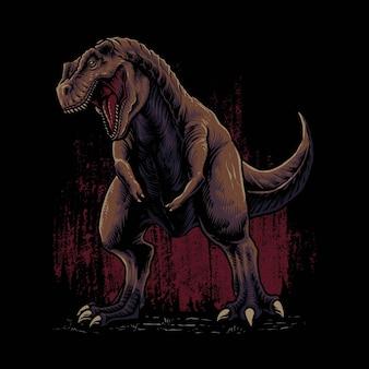 Ilustração de tiranossauros rex predador de dinossauro