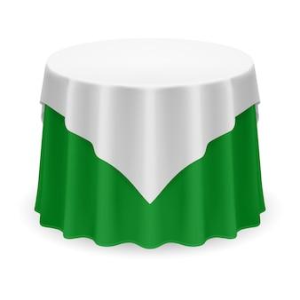 Ilustração de toalha de mesa redonda