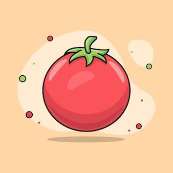 Ilustração de tomate fofo e realista