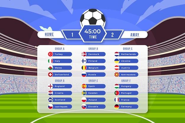 Ilustração de torneio de futebol