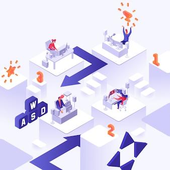 Ilustração de torneio de jogador
