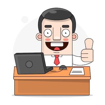 Ilustração de trabalhador de escritório
