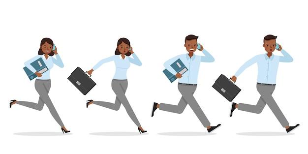 Ilustração de trabalhadores executivos