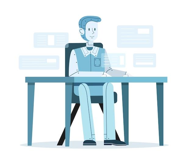 Ilustração de trabalho de inteligência artificial