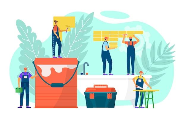 Ilustração de trabalho de reparo doméstico