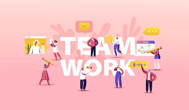 Ilustração de trabalho em equipe