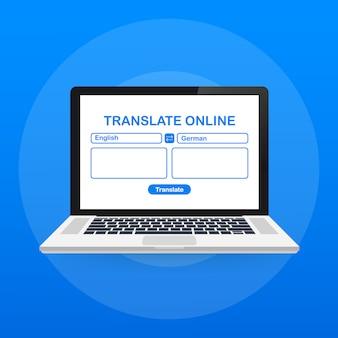 Ilustração de tradução de idiomas
