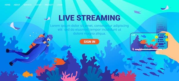 Ilustração de transmissão ao vivo.