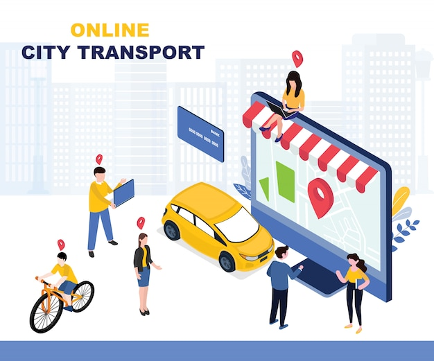 Ilustração de transporte da cidade