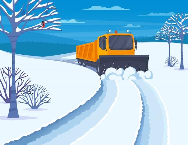 Ilustração de transporte de neve