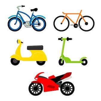 Ilustração de transporte de veículos de transporte