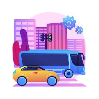 Ilustração de transporte rodoviário