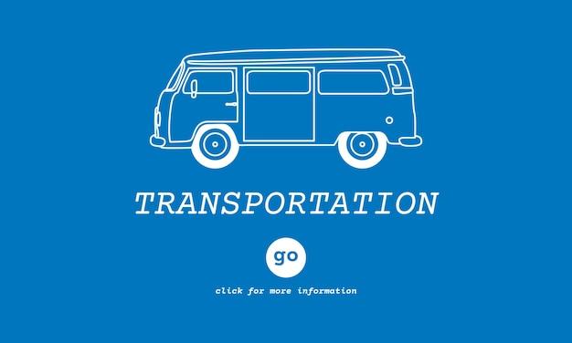 Ilustração, de, transporte
