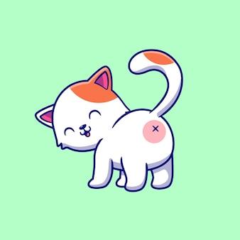 Ilustração de traseiro de gato fofo