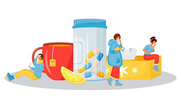 Ilustração de tratamento de doença