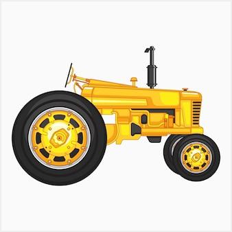 Ilustração de trator amarelo