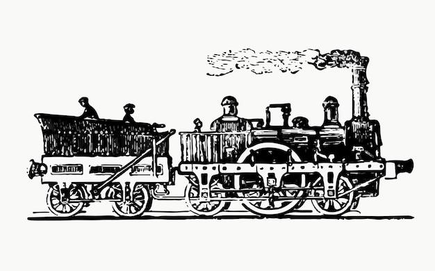 Ilustração de trem a vapor vintage