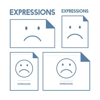 Ilustração, de, triste, emoção