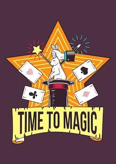Ilustração de truques de mágica