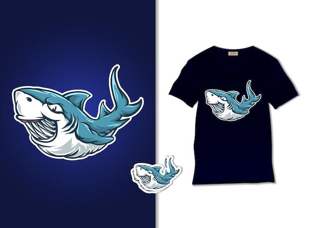 Ilustração de tubarão azul
