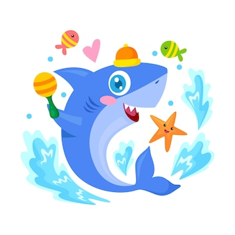 Ilustração de tubarão bebê