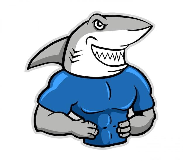 Ilustração de tubarão muscular