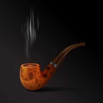 Ilustração de tubo de tabaco