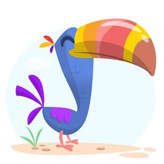 Ilustração de tucano engraçado dos desenhos animados