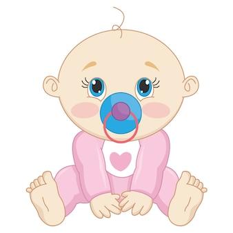 Ilustração de um bebê