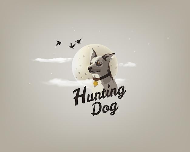 Ilustração de um cão de caça