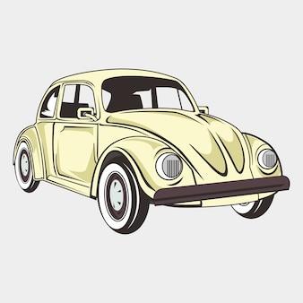 Ilustração de um carro clássico de besouro