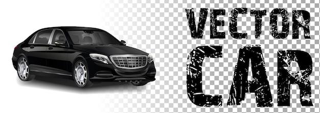 Ilustração de um carro preto