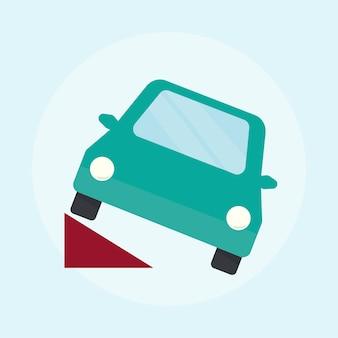 Ilustração, de, um, carro verde