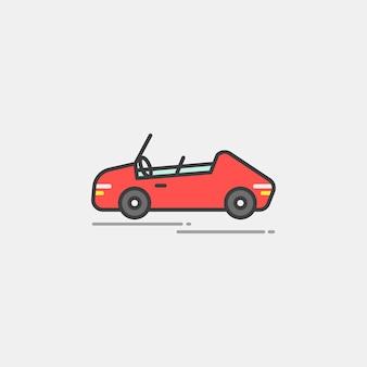 Ilustração, de, um, carro vintage