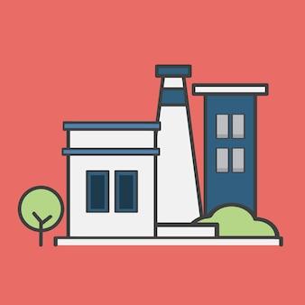 Ilustração, de, um, central elétrica
