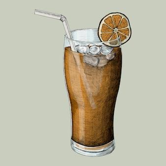 Ilustração de um chá gelado