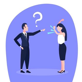Ilustração de um conflito de negócios