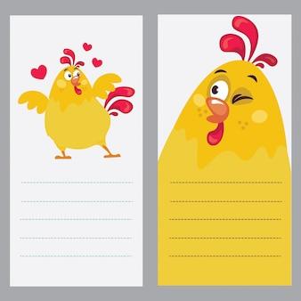 Ilustração de um galo como notebook