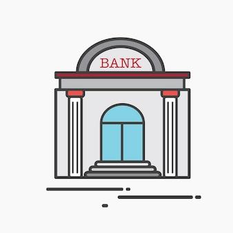 Ilustração, de, um, grande, banco
