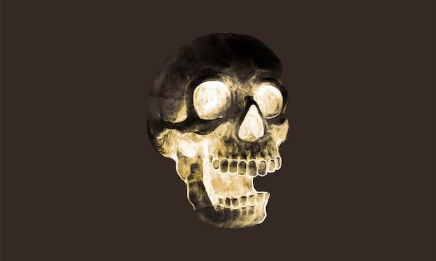 Ilustração de um ícone de caveira para o halloween