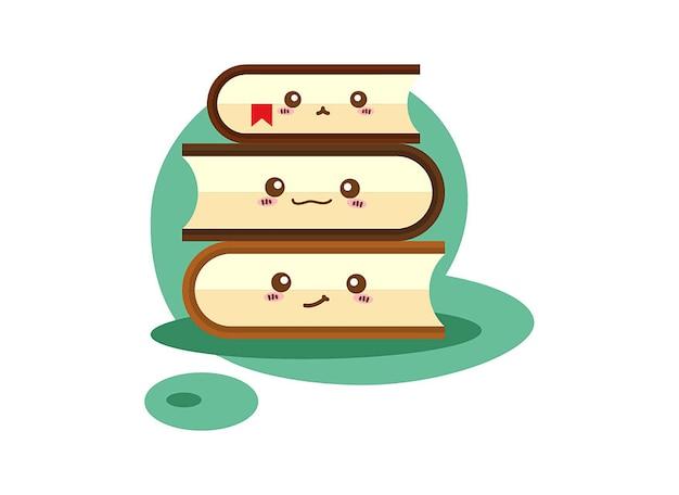 Ilustração de um livro sobre um fundo branco