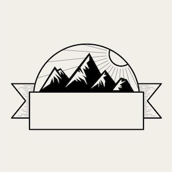 Ilustração, de, um, montanha